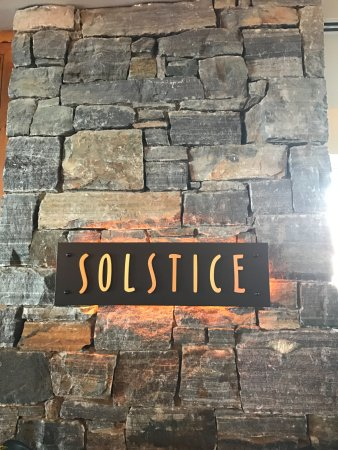 Solstice : The Sign and Entrance to the Restaurant