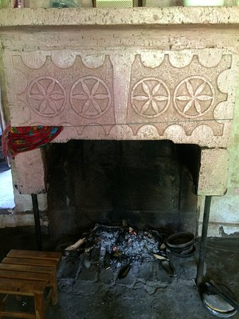Imereti Region, Georgië: Old fireplace in village house, Imereti, Georgia