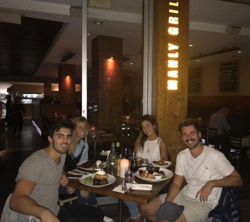 Manly Grill: Cenamos frente a Manly Beach, muy agradable el sector de afuera