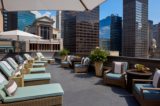 The Peninsula Spa: Outdoor Wrap-around Sun Terrace