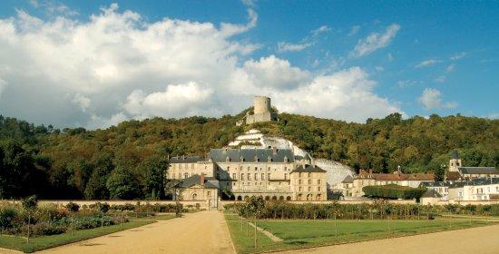 La Roche-Guyon, Francja: Vue du Château depuis le jardin potager