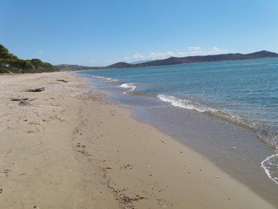 Attica, Grecia: Spiaggia con sabbia
