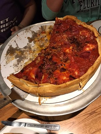 Matteson, Илинойс: Meat deep dish