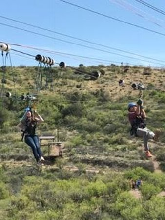 Oracle, AZ: After the double zipline!