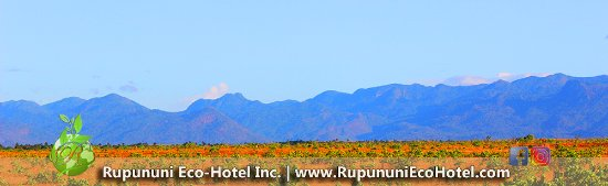 Lethem, Guyana: View of the Kanuku Mountains from the Rupununi Eco Hotel.