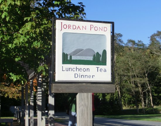 Sign For The Jordan Pond House, Seal Harbor, Maine