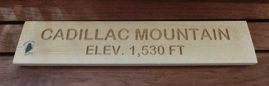 Elevation Sign For Cadillac Mountain, Maine