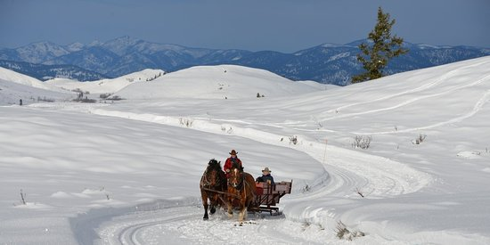Sleigh Ride at Sun Mountain Lodge