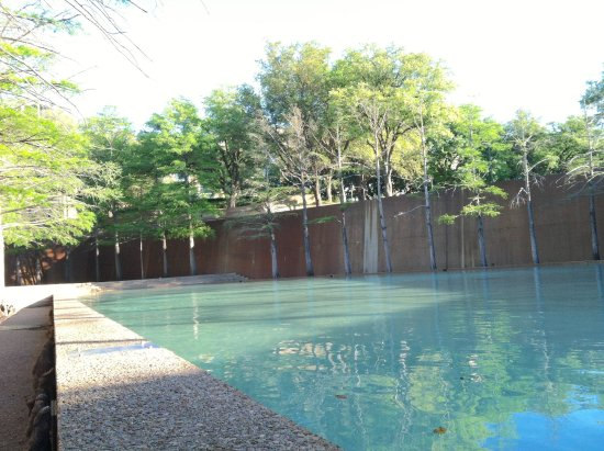 reflecting pool with cypress trees - Picture of Fort Worth Water ...