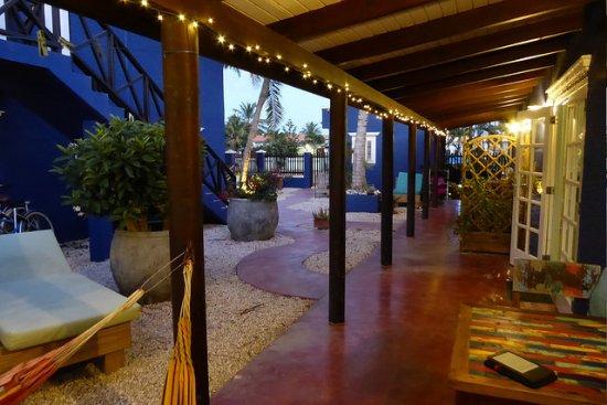 Blachi Koko Apartments Bonaire: Sitting area outside apartment