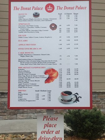 Oak Ridge, Теннесси: drive thru menu. One while you wait in line and another at the window.