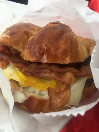 Oak Ridge, TN: Sausage egg cheese bacon croissant. Not heart healthy
