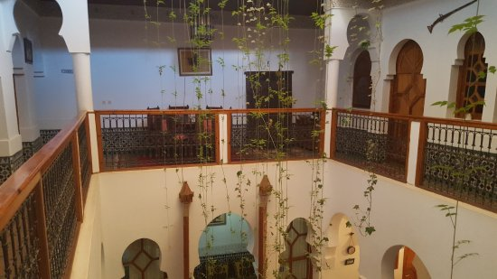 Riad Moulay: Another view of the center coutryard from first floor