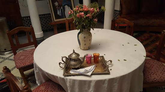 Riad Moulay: They served mint tea on arrival