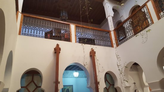 Riad Moulay: A view from ground floor up to first floor
