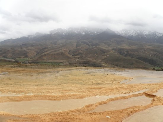 Mazandaran Province, Iran: Badab-e-Surt area view  in a rainy day