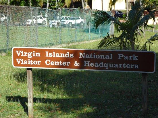 Cruz Bay Visitor Center : Sign