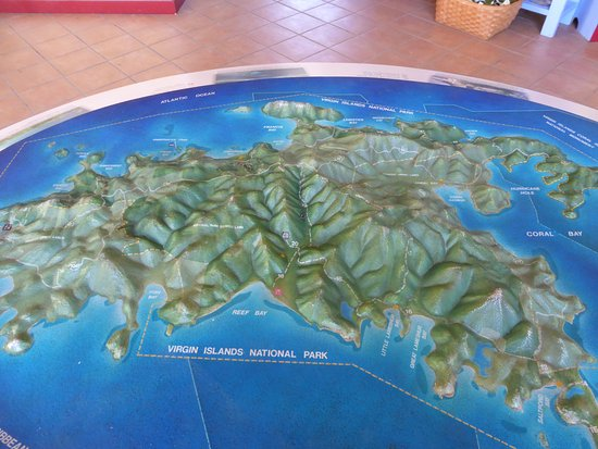 Cruz Bay Visitor Center : Map