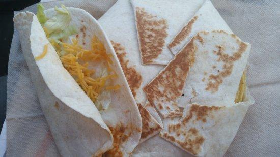 Talladega, AL: Crunch wrap with soft taco