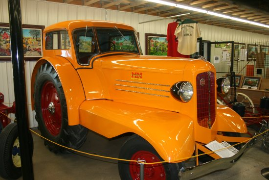 Algona, IA: Agricultural Minneapolis Moline first cabbed tractor.