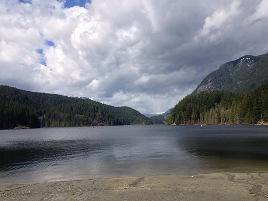 Anmore, Canada: Buntzen Lake early April 2017