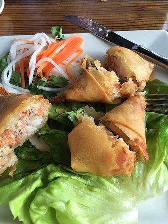 Shorewood, IL: Shrimp spring roll appetizer