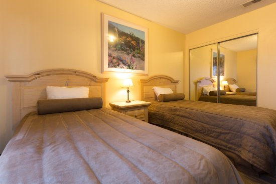 Twin Beds in One Room of Two Bedroom Condo Unit at the Indian Palms Vacation Club