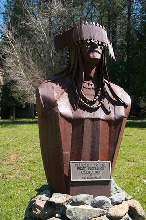 "Pine Grove, CA: ""First People of California"" sculpture"