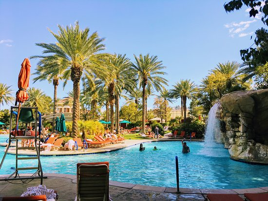 Pool Waterfall Picture Of Jw Marriott Las Vegas Resort Spa Las Vegas Tripadvisor