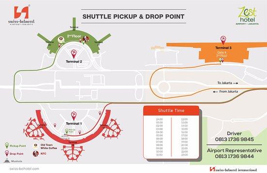 Shuttle Pick Amp Drop Point Info Picture Of Swiss Belhotel
