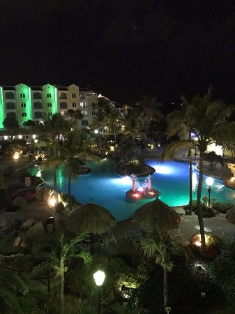 Costa Linda Beach Resort: View from a fourth floor balcony at night.