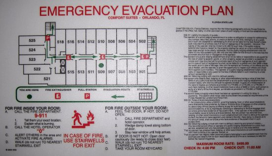 Evacuation Plan Room Map Picture Of Comfort Suites