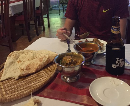 Family Indian Restaurant: Huge naan and generous portions