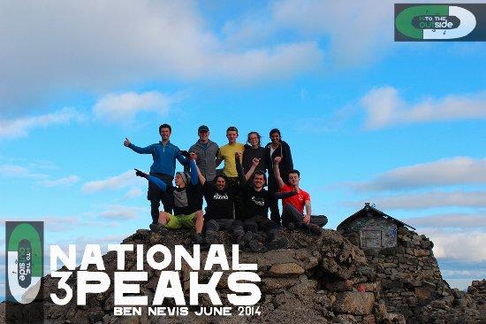 Kendal, UK: Reaching the summit of Ben Nevis, The National 3 Peaks.
