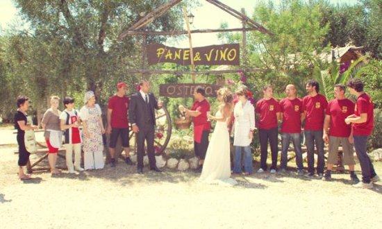 Osteria Pane & Vino: Un matrimonio speciale con riprese televisive Mediaset.