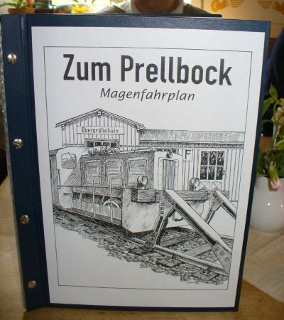 Lunzenau, Almanya: Die Speisekarte, ein verführerischer Magenfahrplan