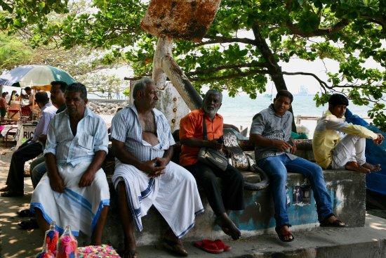 Fort Kochi Beach: Locals hanging at the beach.
