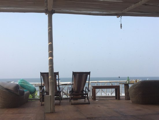 Ashvem Beach, India: deck