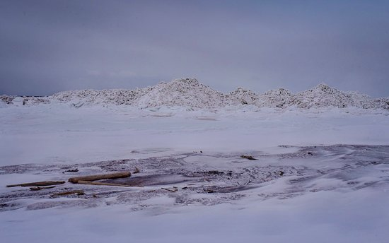 Ice build up during early spring at Salmon Beach NB
