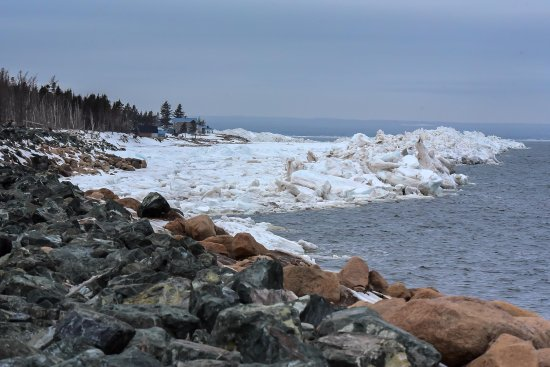 Salmon Beach NB. The ice moving out just in time for lobster season opening, May 1st.
