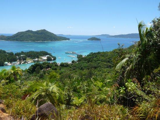 Île de Praslin, Îles Seychelles : Vue du sommet