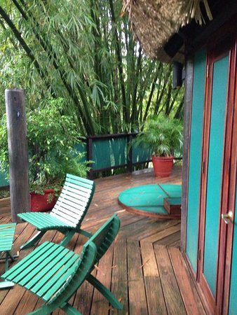 The Lodge at Chaa Creek: deck outside the treetop suites, fantastic