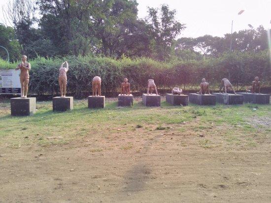 Pune Okayama Friendship Garden: Surya Namasskar Statues