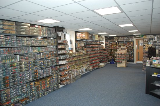 Wirral, UK: Ground Floor Retail Area at WarGameStore.  Gaming Room on first floor with 16 tables.