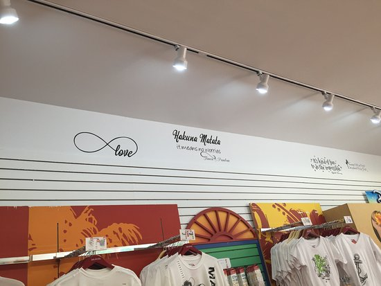 Mackinaw City, MI: Inspiring quotes throughout the new Del Sol store!