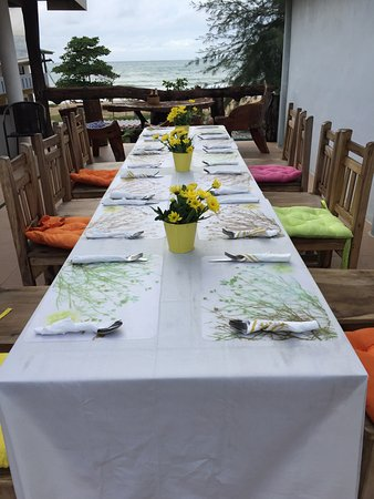 family dinner set up. - picture of peony cafe & restaurant, nai