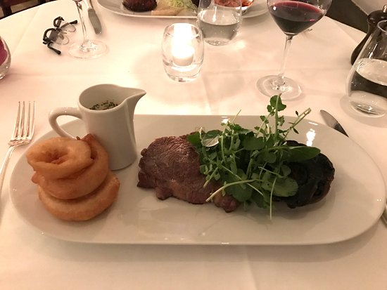 Cellar Restaurant: Ribeye and Onion Rings