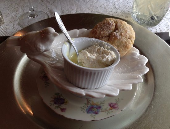 Scone And Clotted Cream At Silver Fountain Inn - Dover, NH