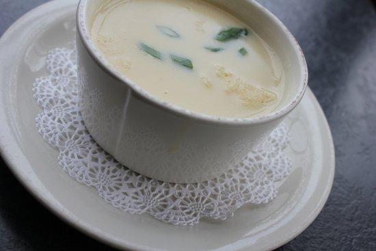 Vergennes, VT: Famous Basin Harbor Cheddar Ale Soup.