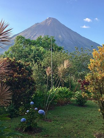 Arenal Kioro Suites & Spa: I was literally laying in bed when I took this photo!